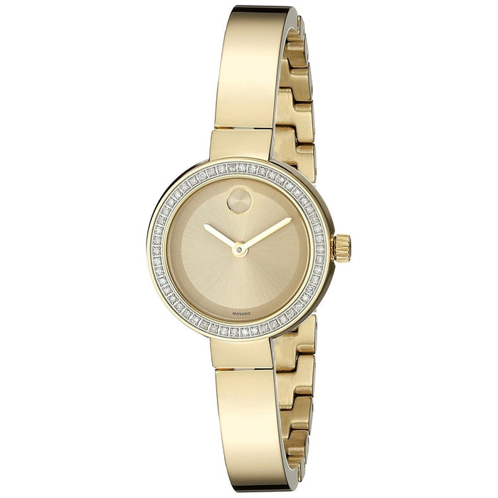 Movado Bold Quartz Diamond Gold-Tone Stainless Steel Watch 3600322