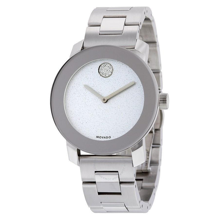 Movado Bold Quartz Crystal Stainless Steel Watch 3600334