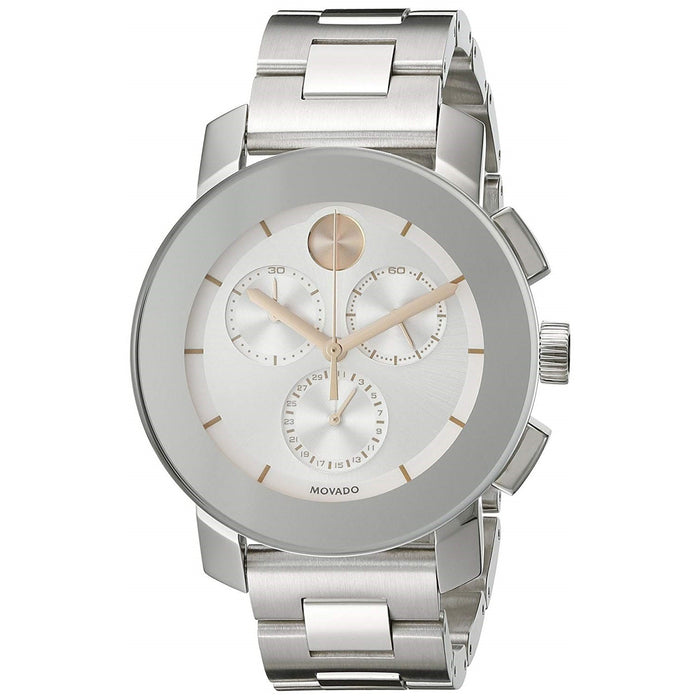 Movado Bold Quartz Chronograph Stainless Steel Watch 3600356