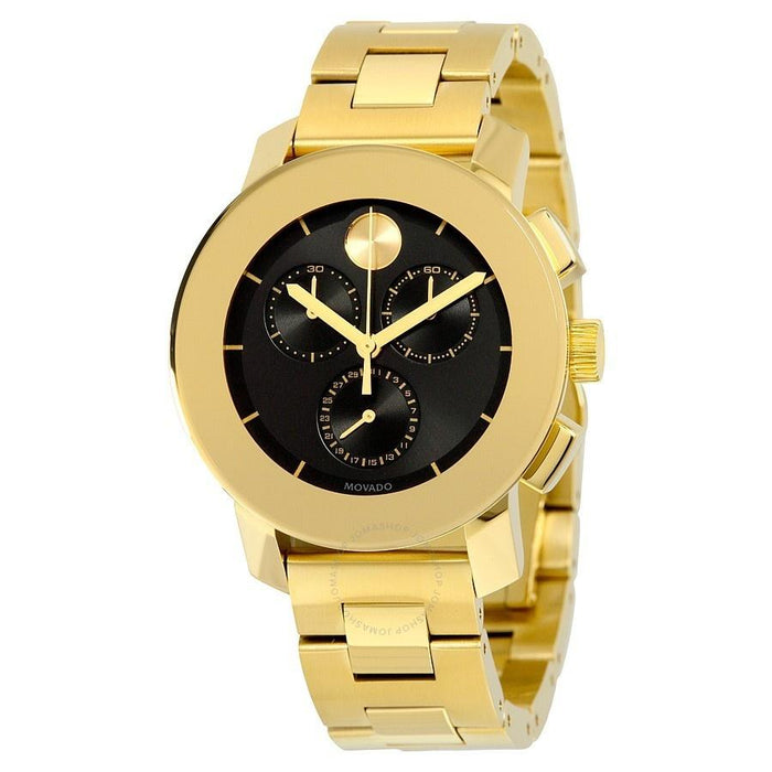 Movado Bold Quartz Chronograph Gold-Tone Stainless Steel Watch 3600359