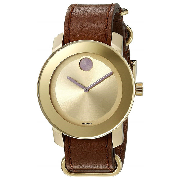 Movado Bold Quartz Brown Leather Watch 3600363