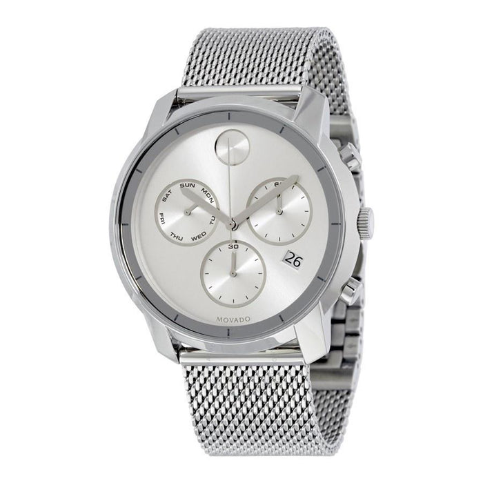Movado Bold Quartz Chronograph Stainless Steel Watch 3600371