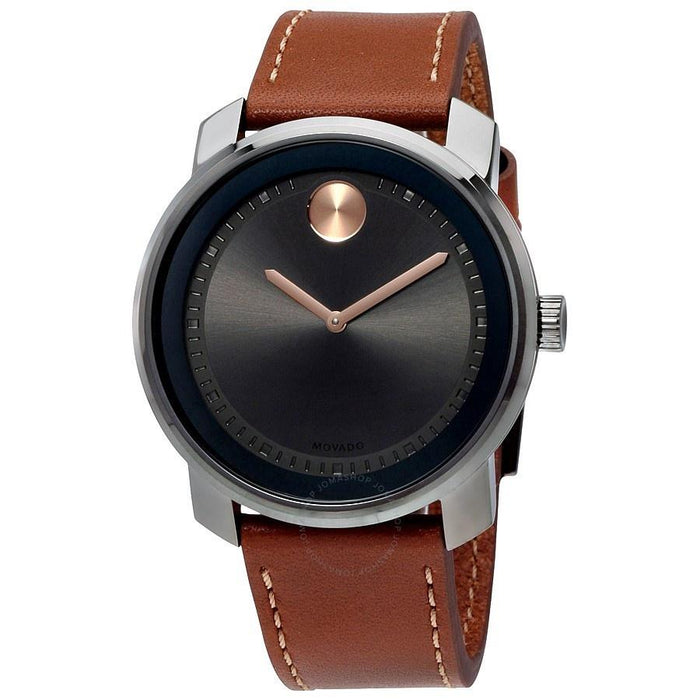 Movado Bold Quartz Brown Leather Watch 3600378