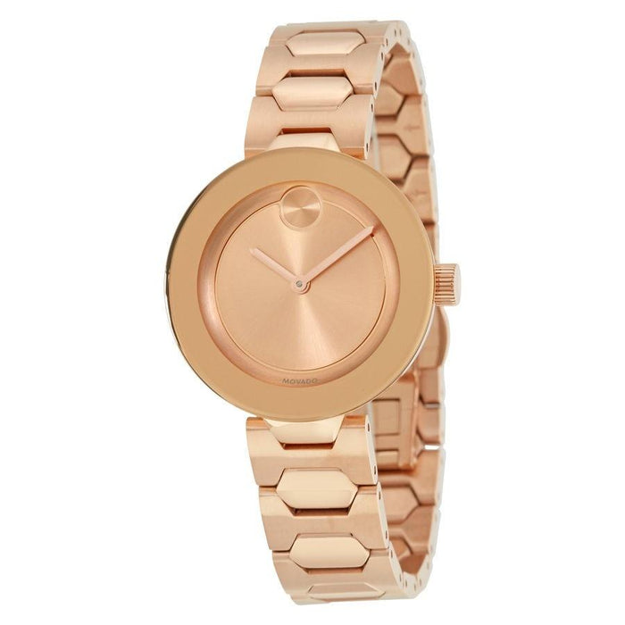 Movado Bold Quartz Rose-Tone Stainless Steel Watch 3600387