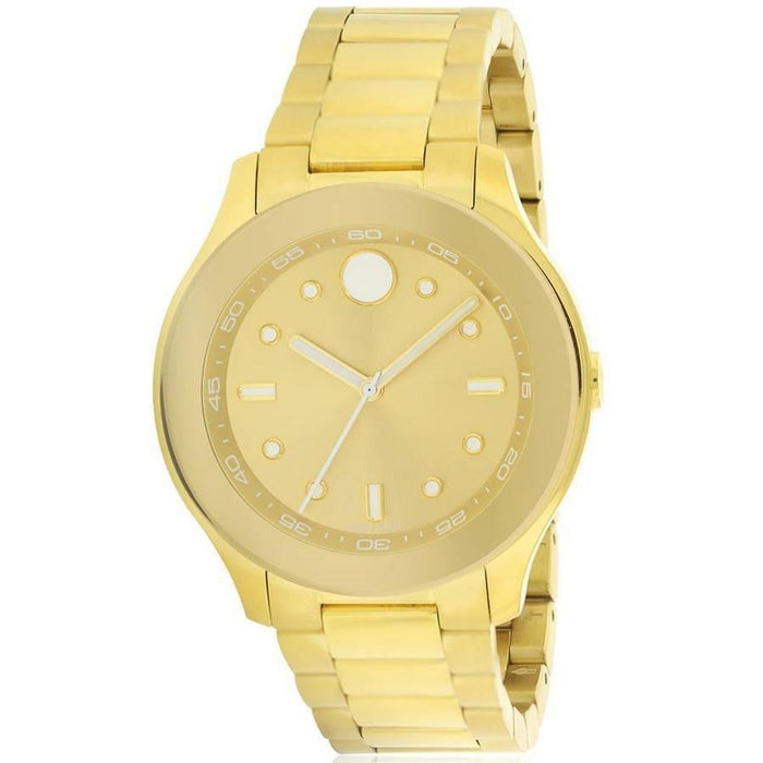Movado Bold Quartz Gold-Tone Stainless Steel Watch 3600416