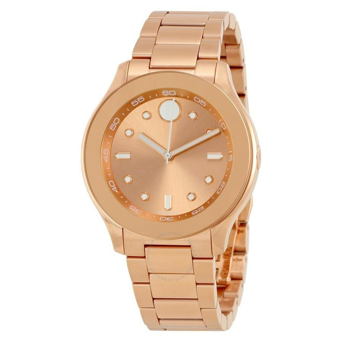 Movado Bold Quartz Rose-Tone Stainless Steel Watch 3600417