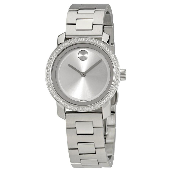 Movado Bold Quartz Diamond Stainless Steel Watch 3600439