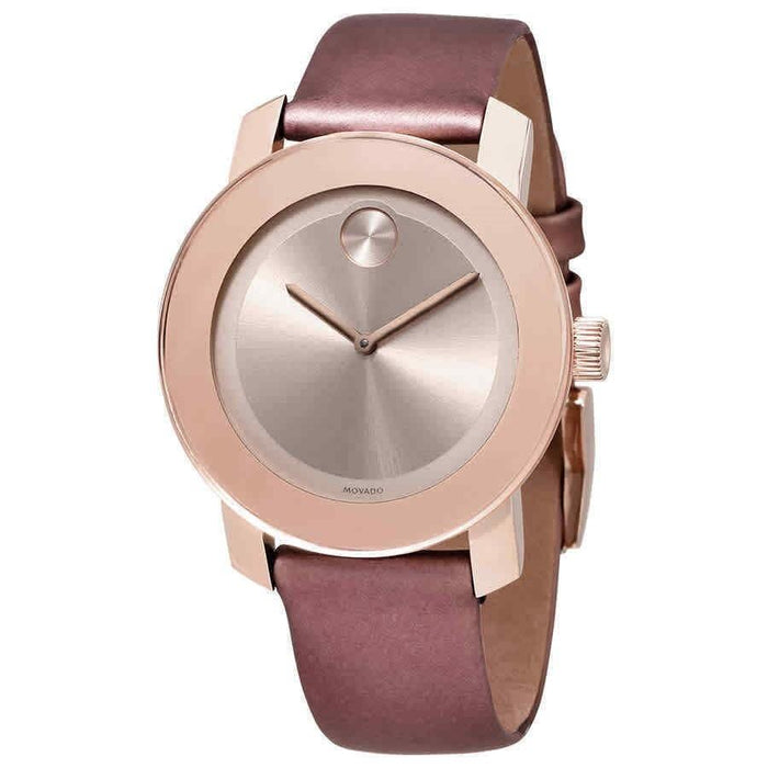 Movado Bold Quartz Pink Leather Watch 3600457