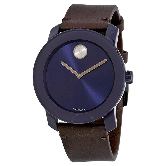 Movado Bold Quartz Brown Leather Watch 3600461