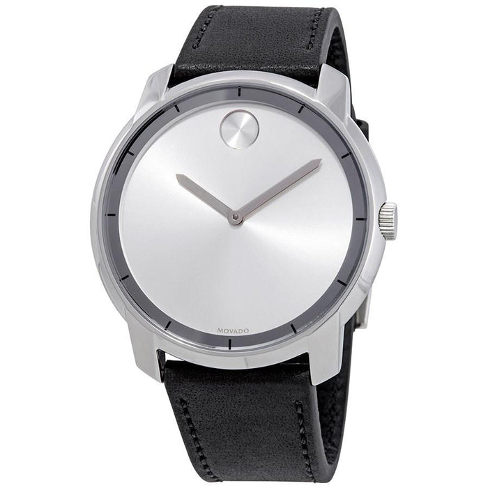 Movado Bold  Quartz Black Leather Watch 3600468