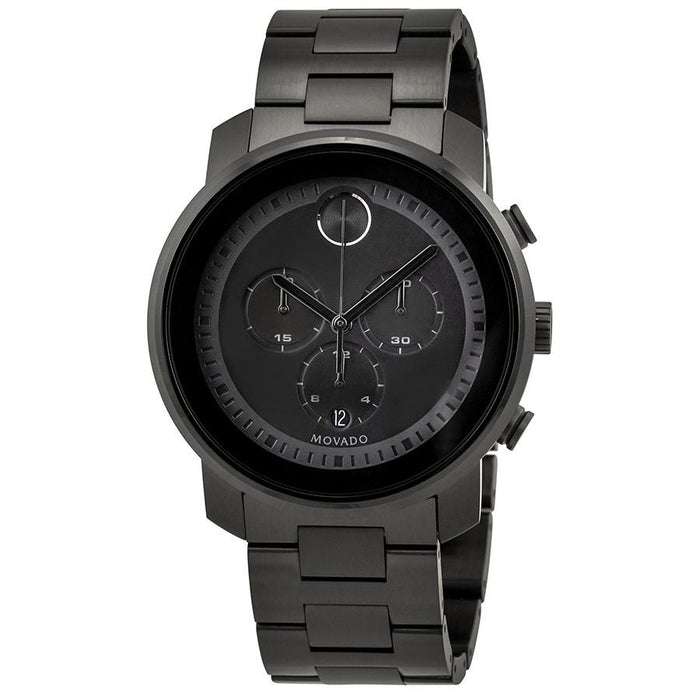 Movado Bold Quartz Chronograph Black Stainless Steel Watch 3600472