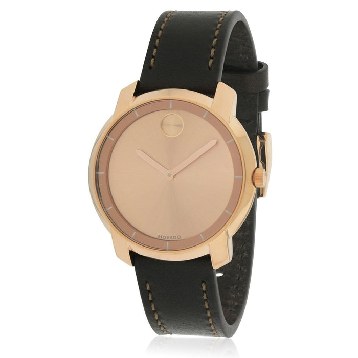 Movado Bold Quartz Brown Leather Watch 3600475