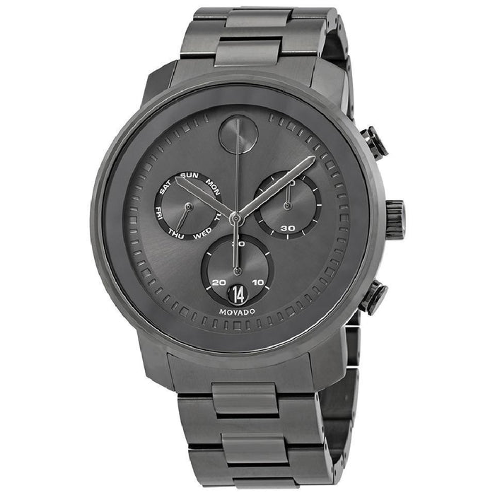 Movado Bold Quartz Chronograph Grey Stainless Steel Watch 3600486