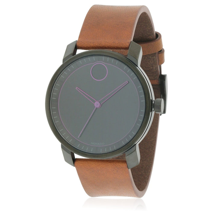Movado Bold Quartz Brown Leather Watch 3600488