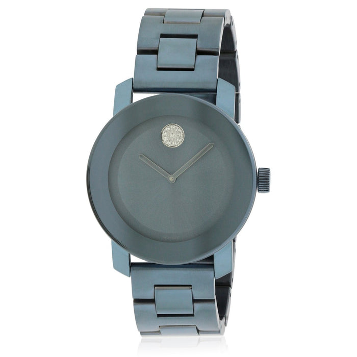 Movado Bold Quartz Blue Stainless Steel Watch 3600494