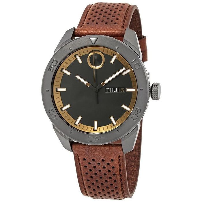 Movado Bold Quartz Brown Leather Watch 3600496