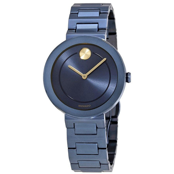 Movado Bold Quartz Blue Stainless Steel Watch 3600499