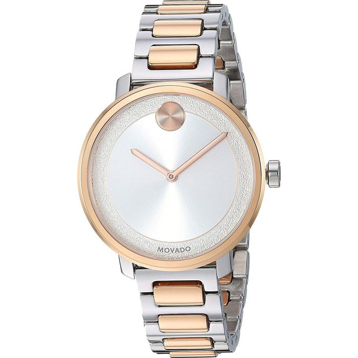 Movado Bold Quartz Two Tone Stainless Steel Watch 3600504
