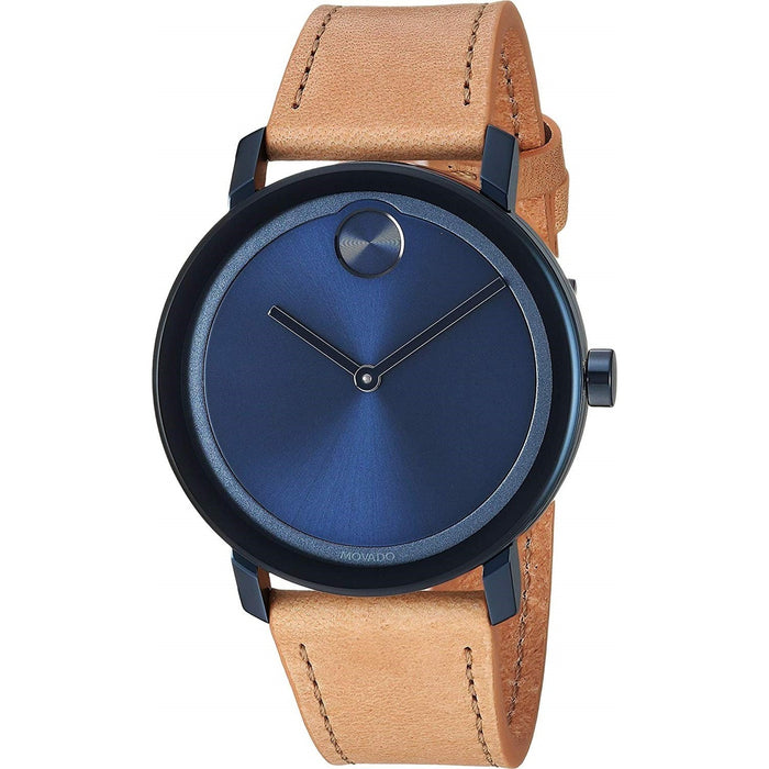 Movado Bold Quartz Beige Leather Watch 3600505