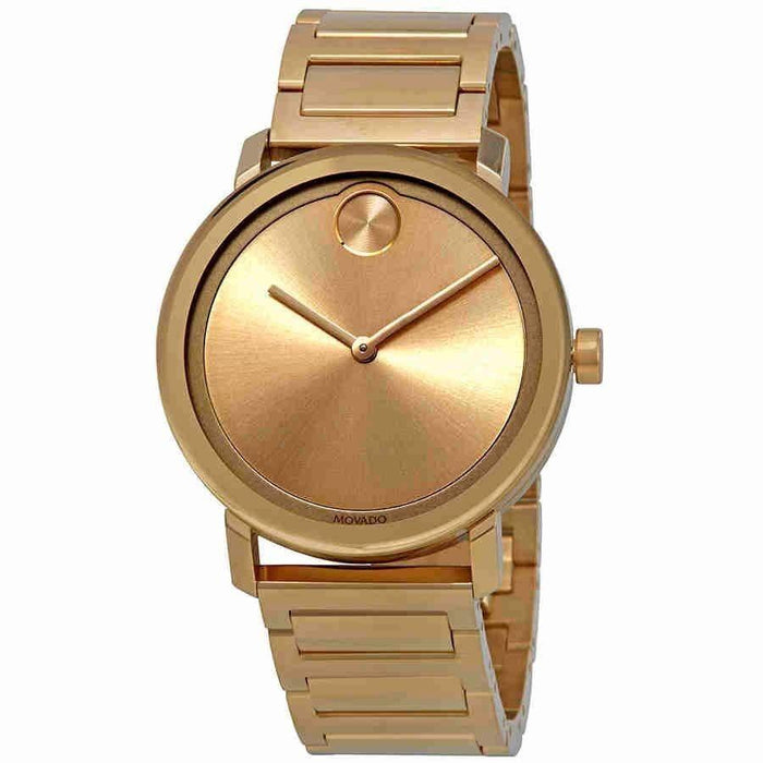 Movado Bold  Quartz Gold-Tone Stainless Steel Watch 3600508