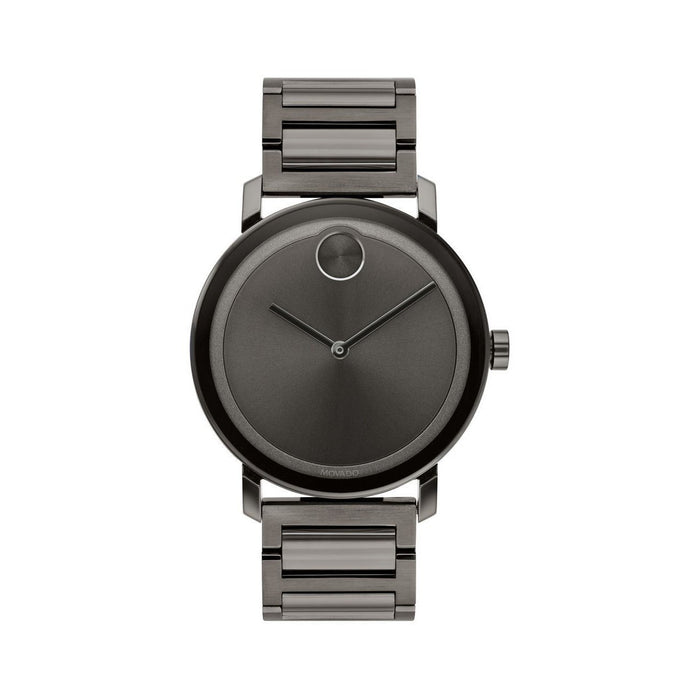 Movado Bold  Quartz Black Stainless Steel Watch 3600509