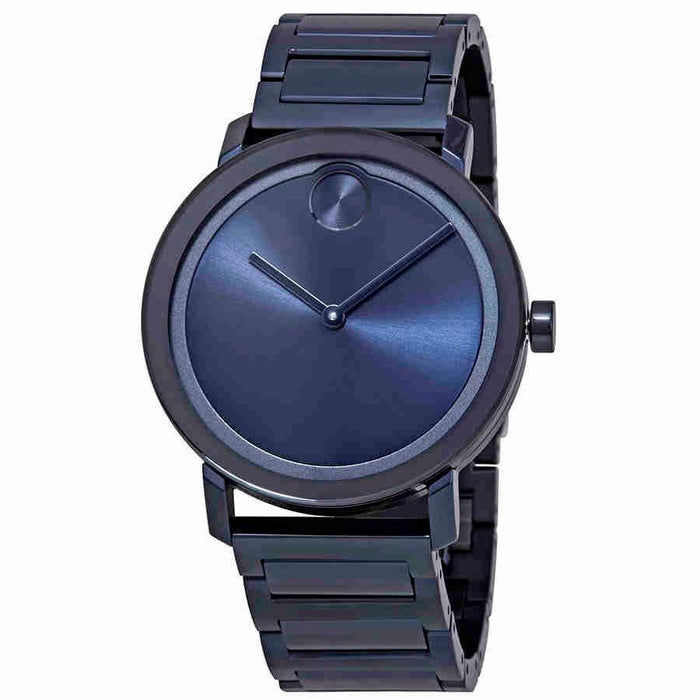 Movado Bold  Quartz Blue Stainless Steel Watch 3600510