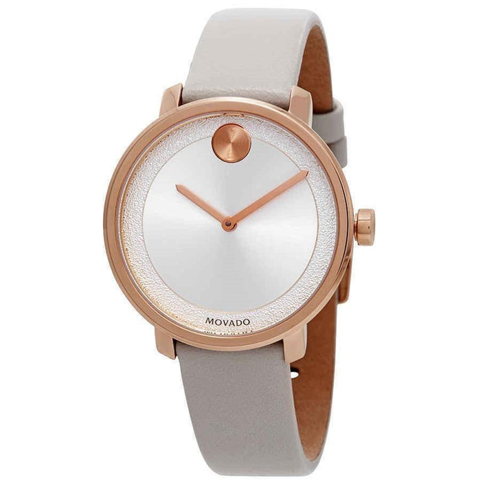 Movado Bold Quartz White Leather Watch 3600539