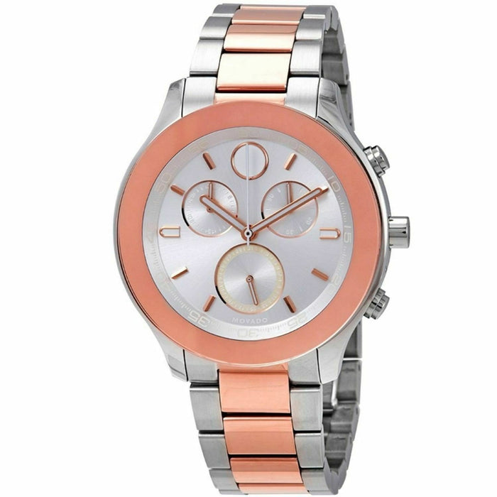 Movado Bold Quartz Chronograph Rose Gold-Tone Stainless Steel Watch 3600547