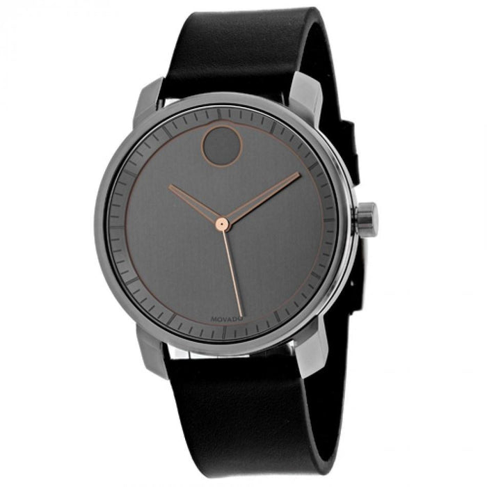 Movado Bold Quartz Black Leather Watch 3600571