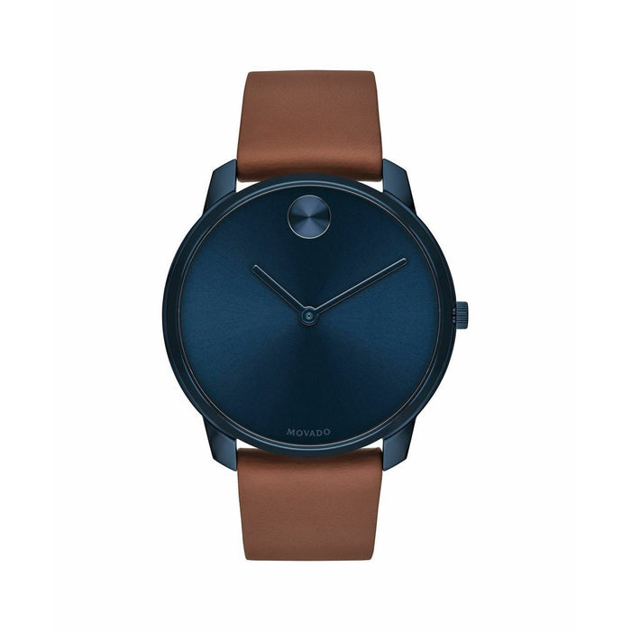 Movado Bold Quartz Brown Leather Watch 3600585