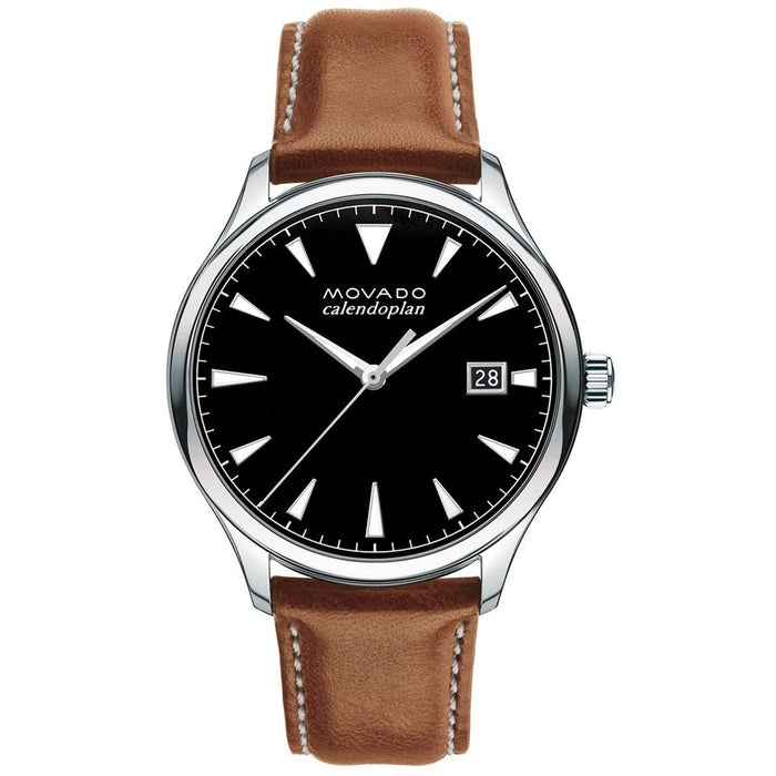 Movado Heritage Quartz Brown Leather Watch 3650001