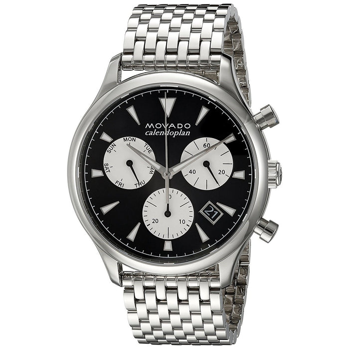 Movado Heritage Quartz Multi-Function Stainless Steel Watch 3650014