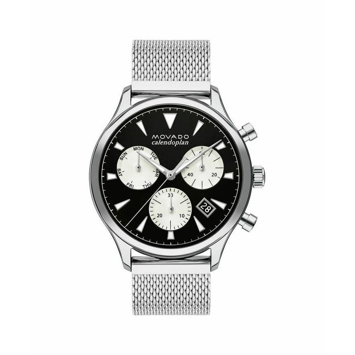 Movado Heritage Quartz Chronograph Stainless Steel Watch 3650097