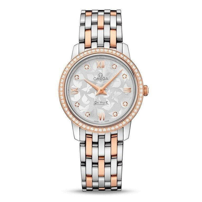 Omega De Ville Prestige Butterfly Quartz Two-Tone 18kt Rose Gold and Stainless Steel Watch 424.25.27.60.52.001