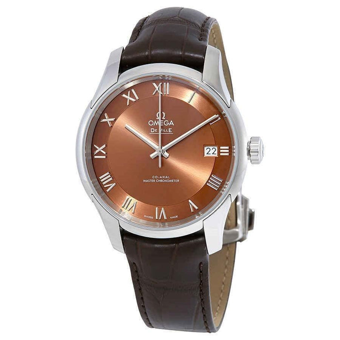 Omega De Ville Hour Vision Automatic Brown Leather Watch 433.13.41.21.10.001