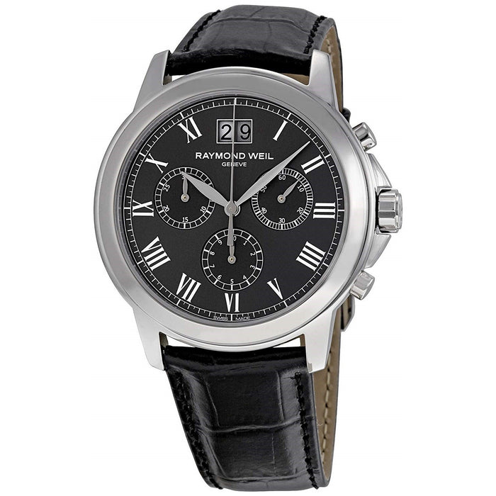 Raymond Weil Tradition Quartz Chronograph Black Leather Watch 4476-STC-00600