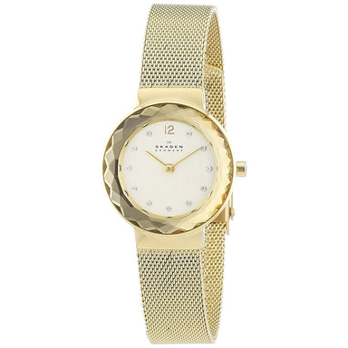 Skagen Leonora Quartz Crystal Gold-Tone Stainless Steel Watch 456SGSG