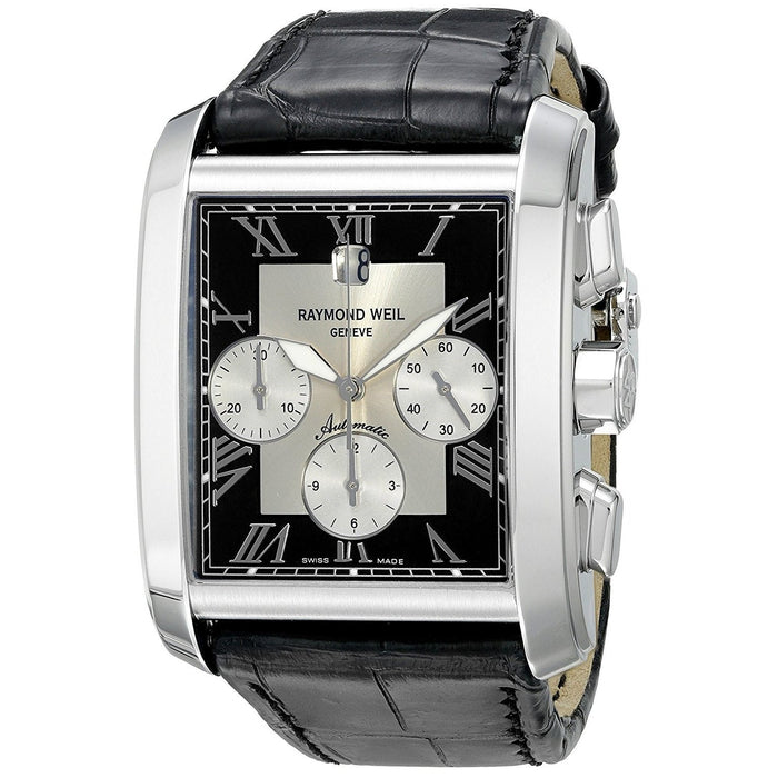 Raymond Weil Don Giovanni Automatic Chronograph Automatic Black Leather Watch 4878-STC-00268