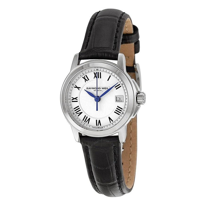 Raymond Weil Tradition Quartz Black Leather Watch 5378-STC-00300