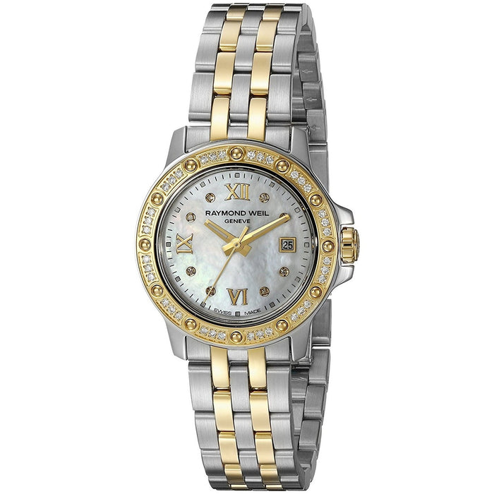 Raymond Weil Tango Quartz 18kt Yellow Gold Diamond Two-Tone Stainless Steel Watch 5399-SPS-00995