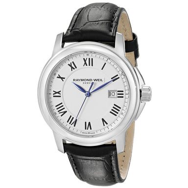 Raymond Weil Tradition Quartz Black Leather Watch 5478-STC-00300