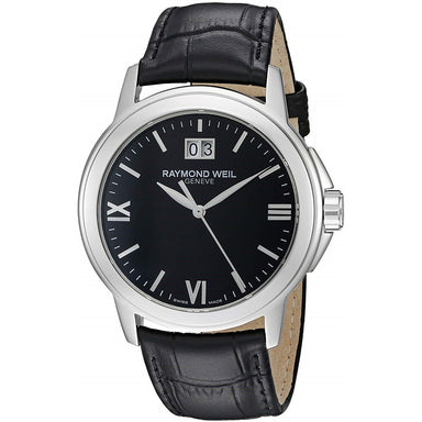 Raymond Weil Tradition Quartz Black Leather Watch 5576-ST-00207