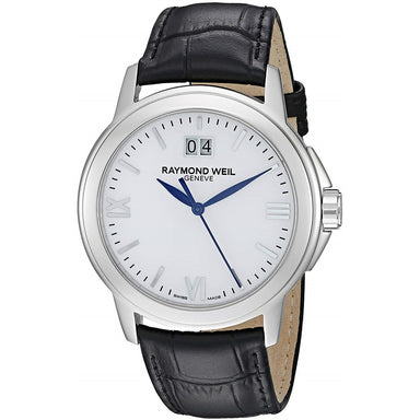 Raymond Weil Tradition Quartz Black Leather Watch 5576-ST-00307