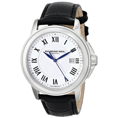 Raymond Weil Tradition Quartz Black Leather Watch 5578-STC-00300
