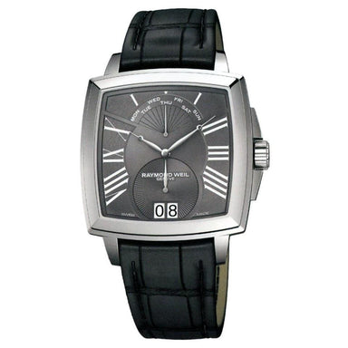 Raymond Weil Tradition Quartz Black Leather Watch 5586-STC-00600