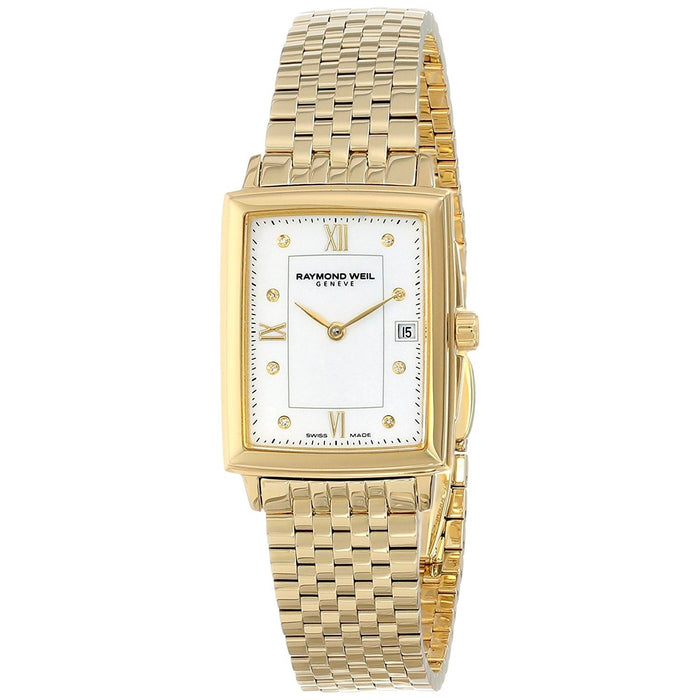 Raymond Weil Tradition Quartz Diamond Gold-tone Stainless Steel Watch 5956-P-00995