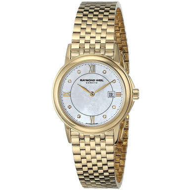 Raymond Weil Tradition Quartz Diamond Gold-Tone Stainless Steel Watch 5966-P-00995