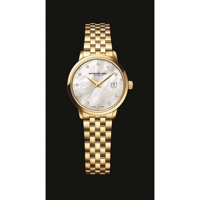 Raymond Weil Toccata Quartz Diamond Gold-Tone Stainless Steel Watch 5988-P-97081