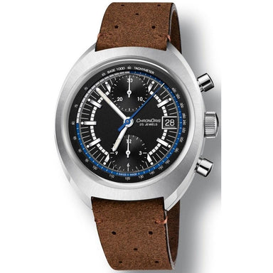 Oris Chronoris Automatic Chronograph Brown Leather Watch 67377394084LSBRN