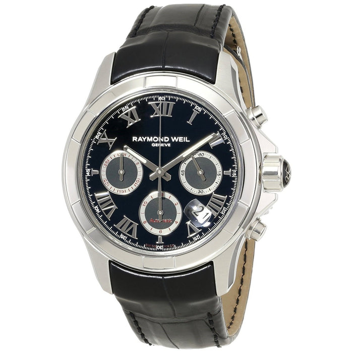 Raymond Weil Parsifal Automatic Chronograph Automatic Black Leather Watch 7260-STC-00208